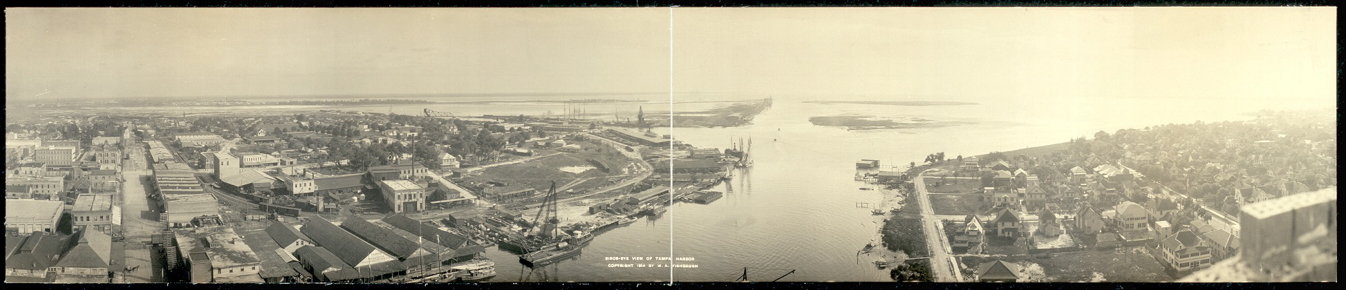 Birds-eye view of Tampa harbor