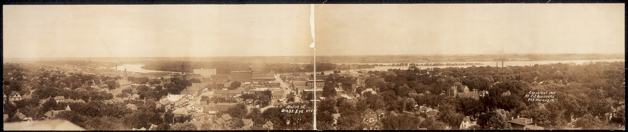 Moline, Ill., birds eye view
