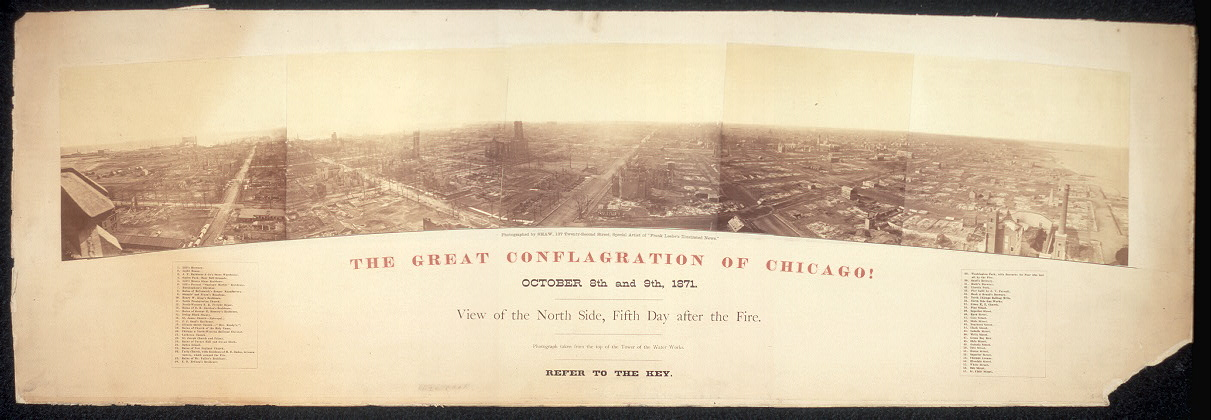 The great conflagration of Chicago! October 8th and 9th, 1871