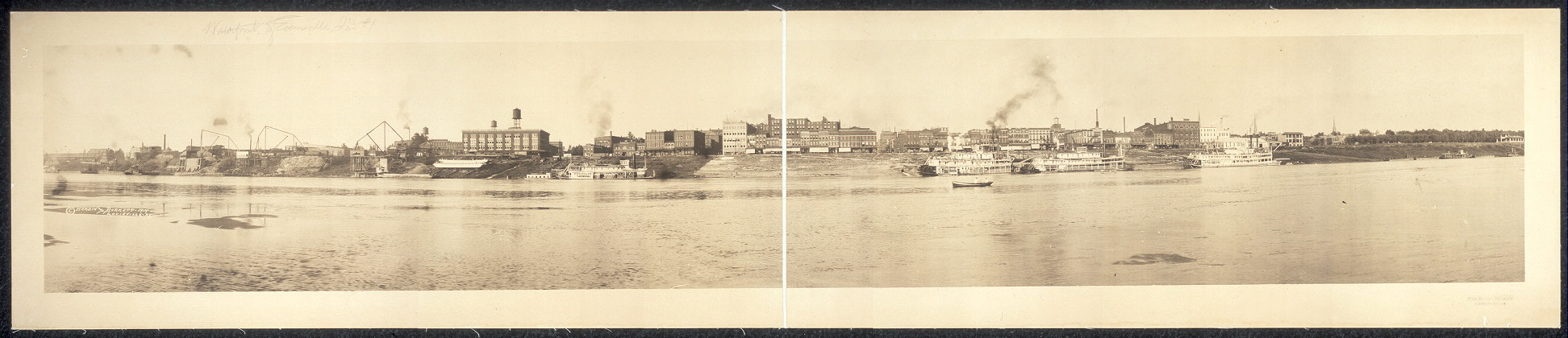 [Water front of Evansville, Ind.]