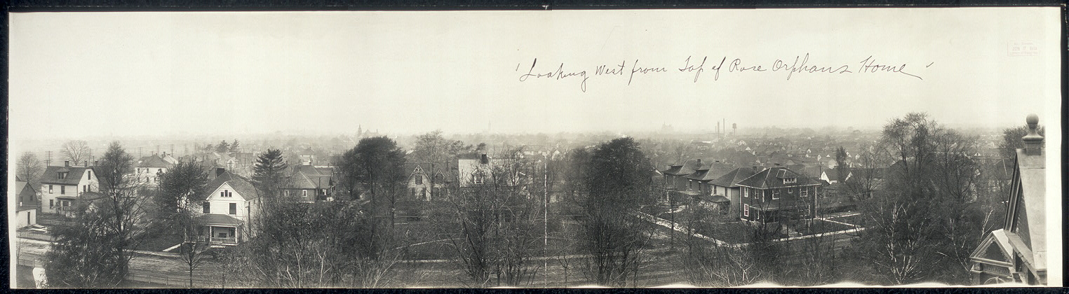 Looking west from top of Rose Orphans Home