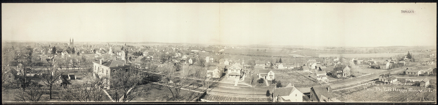 Birdeye view of Dyersville, Iowa