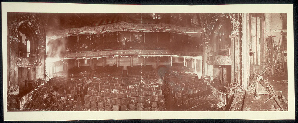 Panorama of Iriquois [sic] Theater after the fire, Dec. 31, 1903