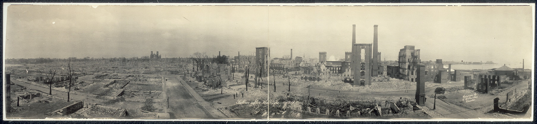 Salem after the fire, 1914
