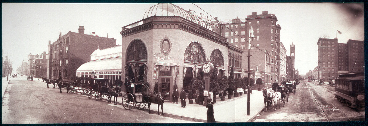 [One panoramic view of Thomas F. Galvin's store, cor. of Boylston and Fairfield Sts., Boston, Mass.]