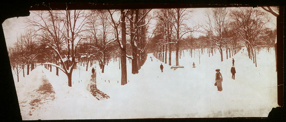 Snow scene taken of Boston Common, Jan. 10, 1904
