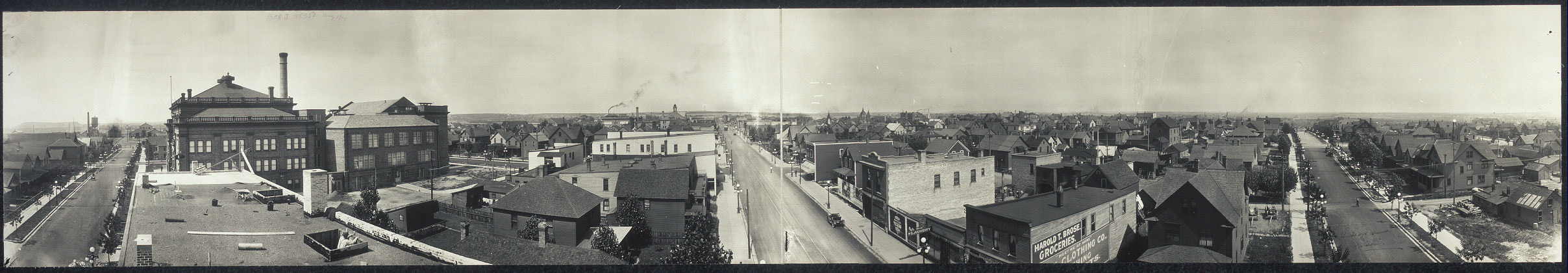 Birds eye view of Hibbing, Minn.