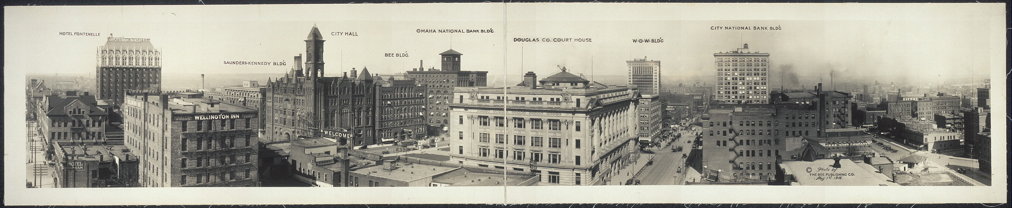[Panoramic view of Omaha from Grain Exchange Bldg.]