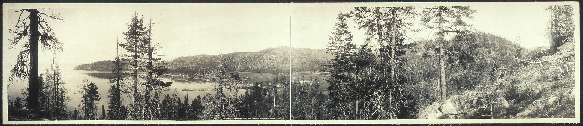 Panorama of Glen Brook, Lake Tahoe