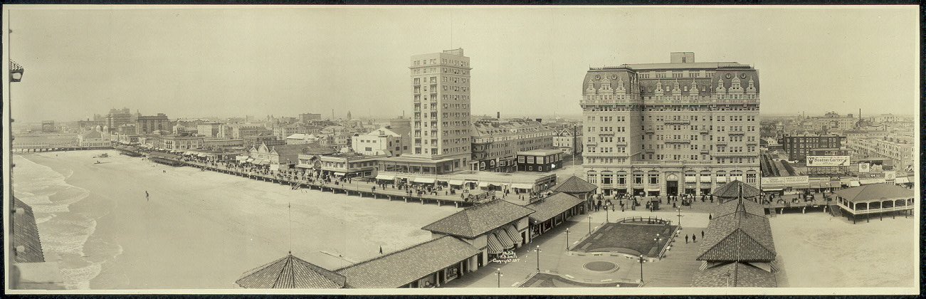 [Atlantic City, N.J. skyline from Garden Pier]