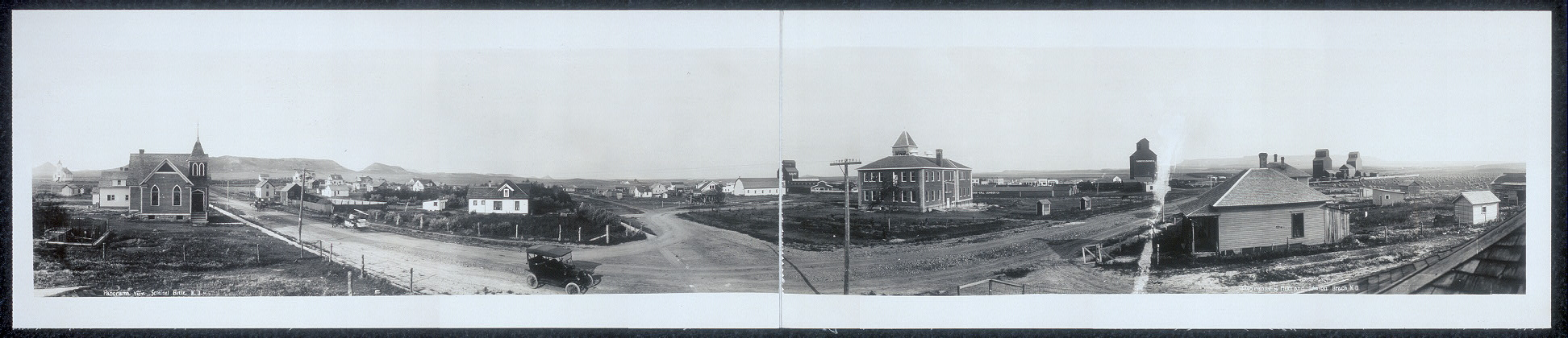Panorama view, Sentinel Butte, N.D.