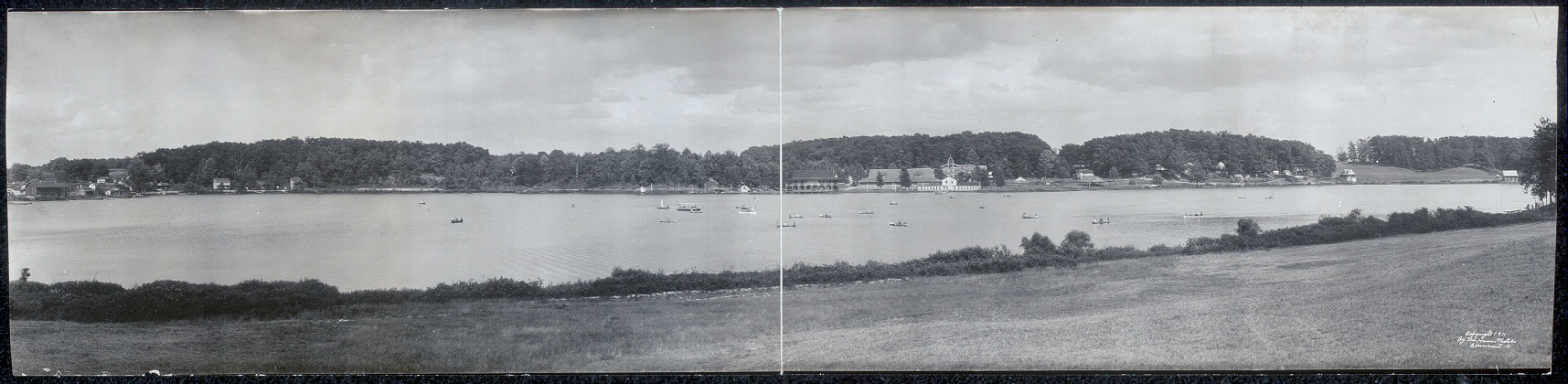 Panoramic view of Brady Lake