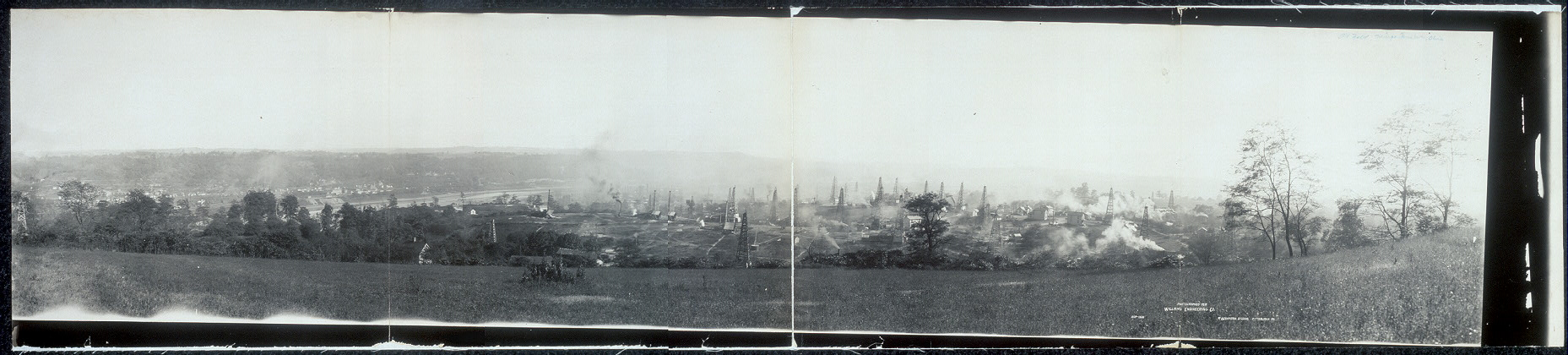 View of oil field, Mingo Junction, Ohio