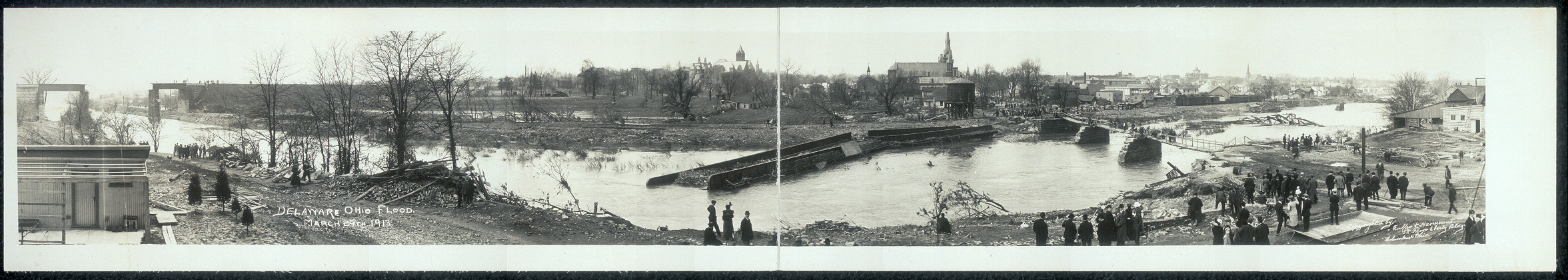 Delaware, Ohio flood, March 29th, 1913