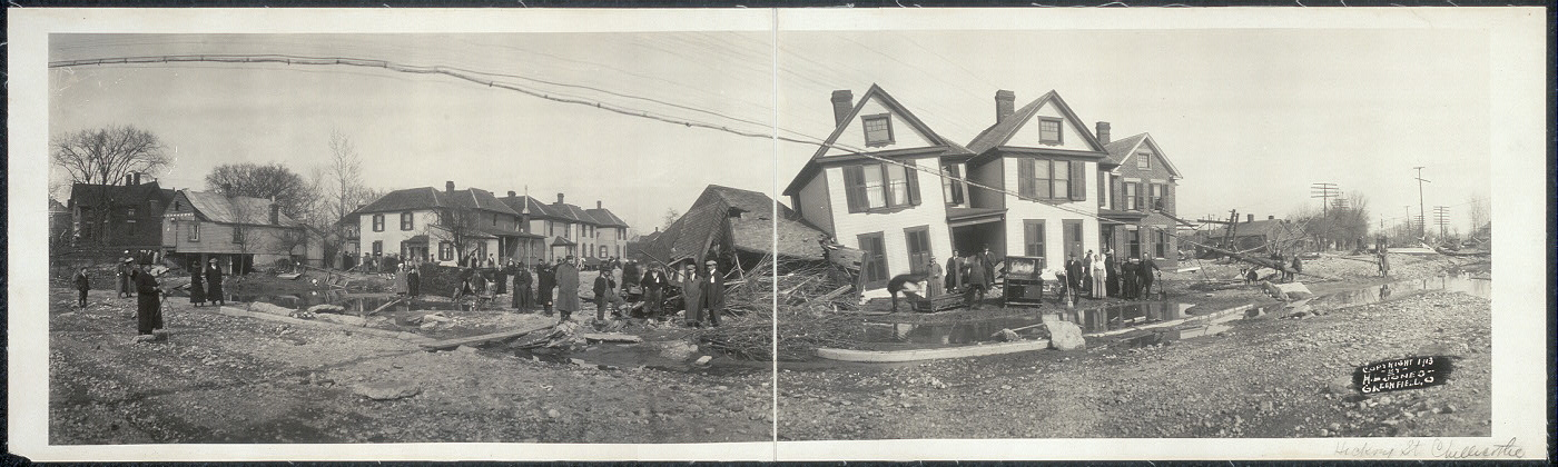 [Flood destruction on South Hickory St., Chillicothe, Ohio]