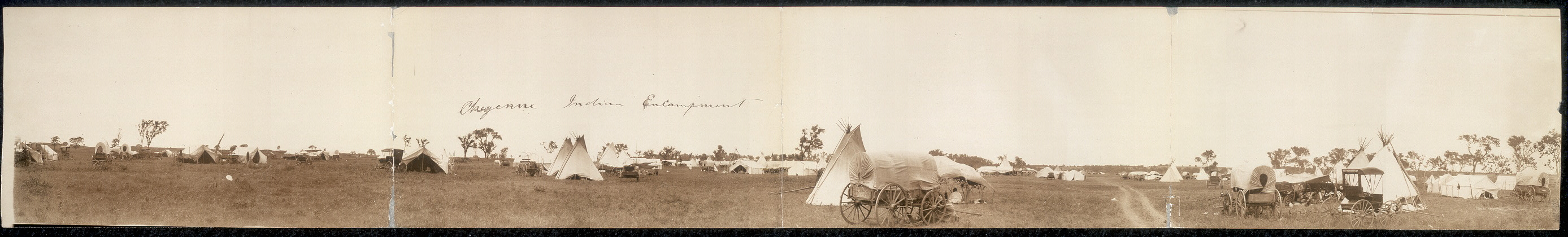 Cheyenne Indian encampment