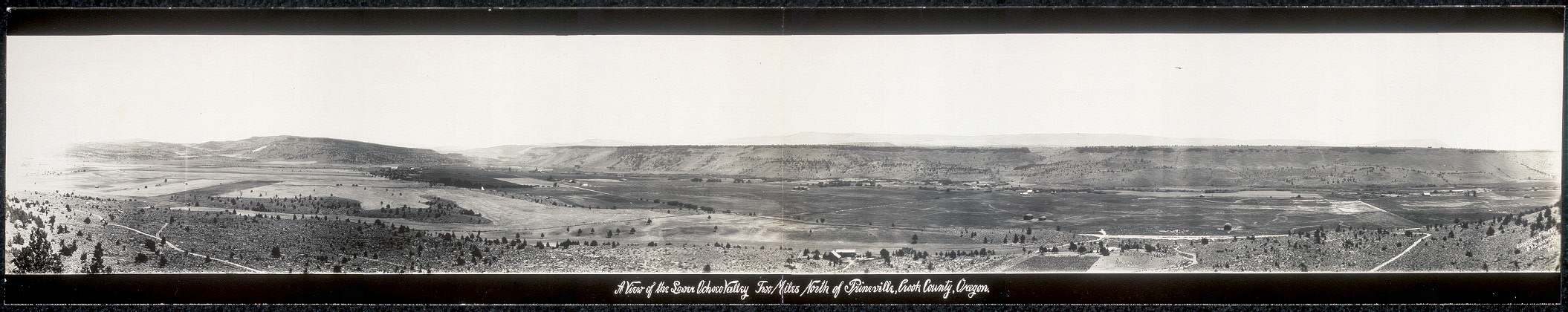 A view of the Lower Ochoco Valley, two miles north of Prineville, Crook County, Oregon