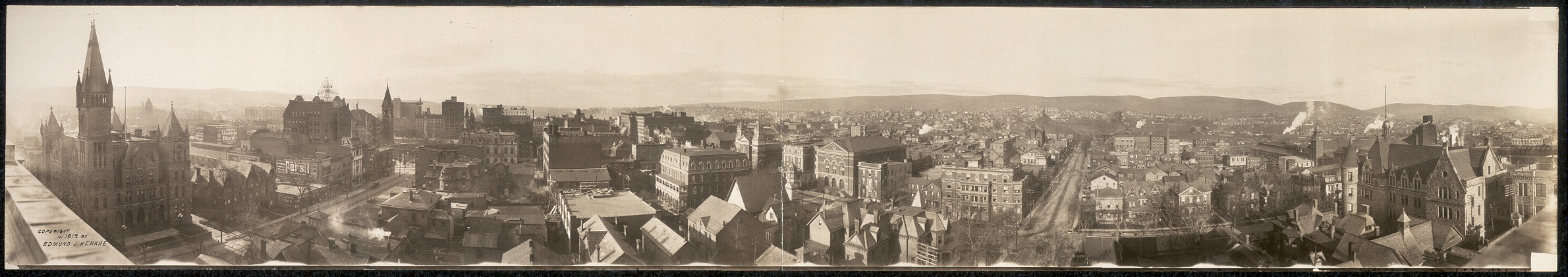 [Panoramic view of Scranton, Pa. in 1912]
