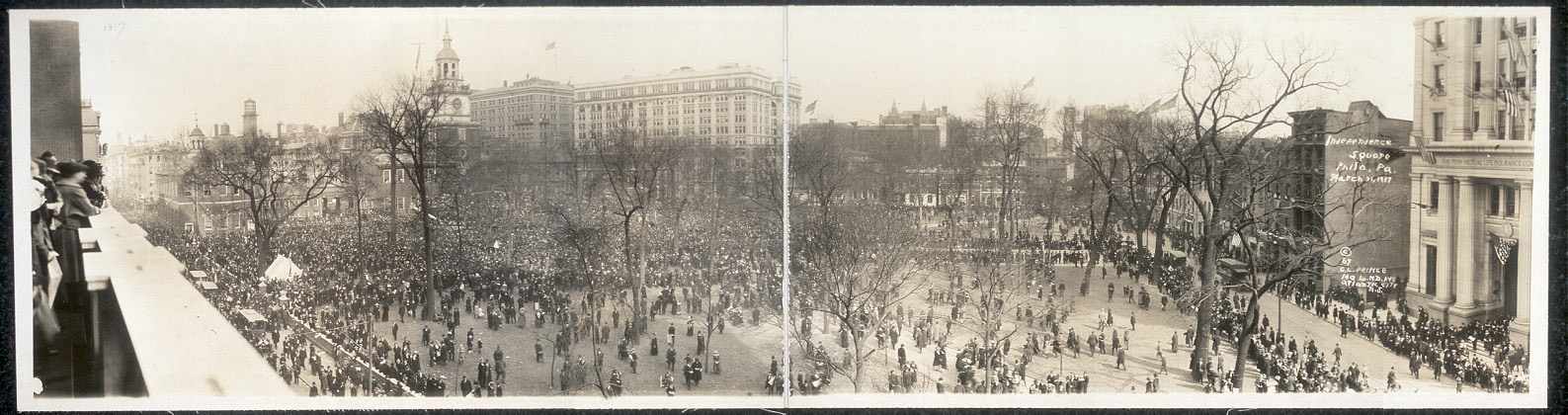 Independence Square, Phila. Pa., March 31, 1917