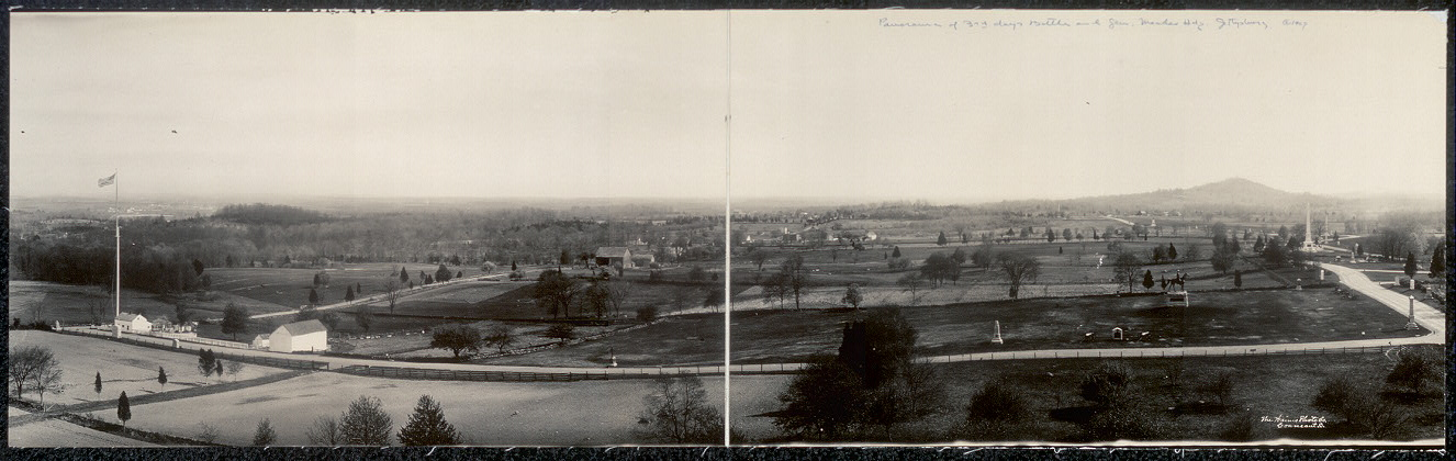 Panorama of 3rd day's battle and Gen. Mead's Hdg., Gettysburg
