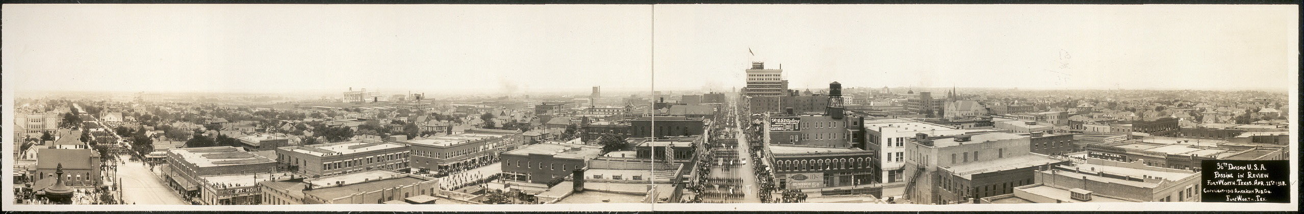 36th Division U.S.A., passing in review, Fort Worth, Texas, Apr. 11th, 1918