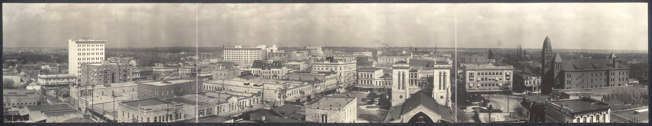 Panoramic view of San Antonio, Texas