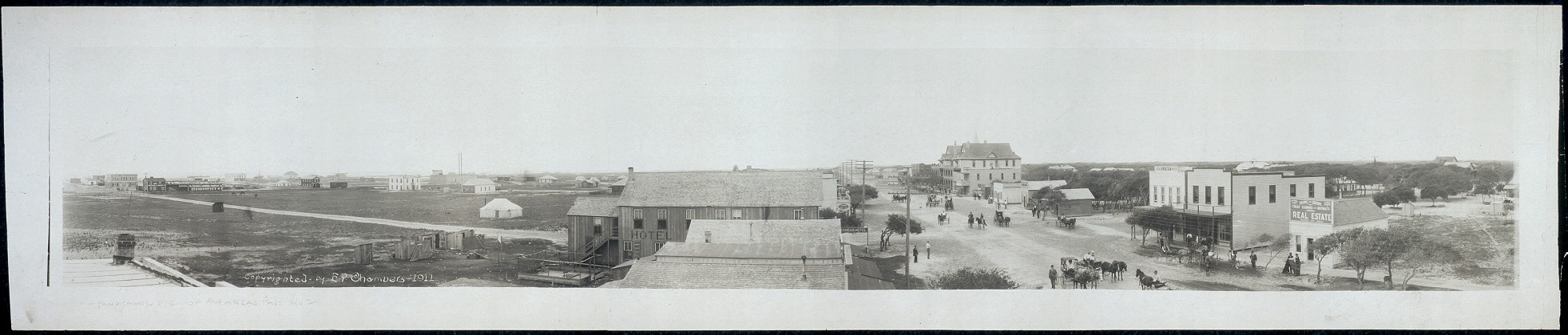 [Panoramic view of Aransas Pass, Texas]