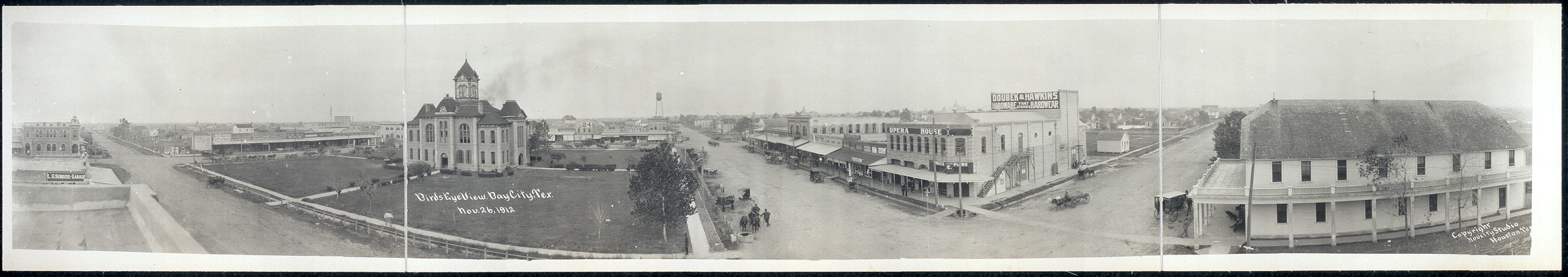 Birds eye view, Bay City, Tex., Nov. 26, 1912