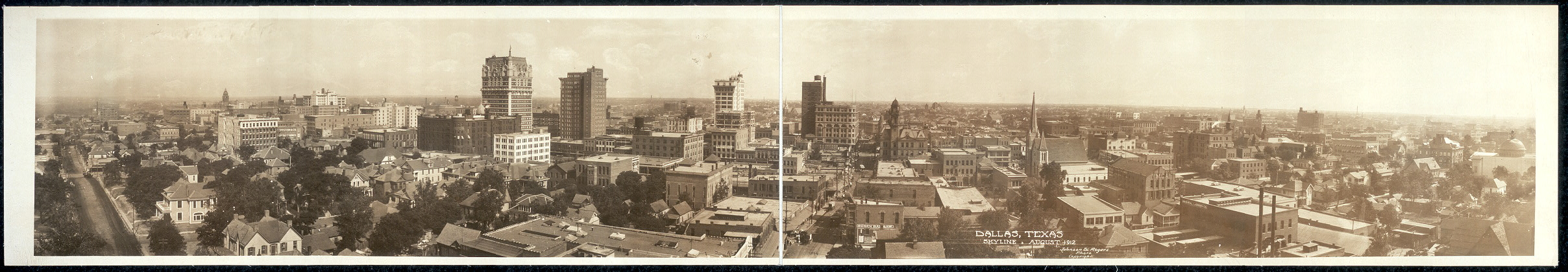 Dallas, Texas skyline, August 1912