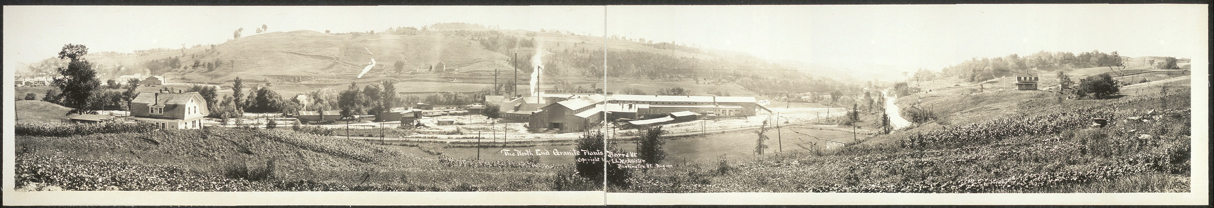 The north end granite plants, Barre, Vt.