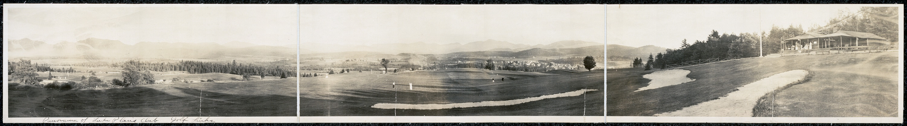 Panorama of Lake Placid Club Golf Links