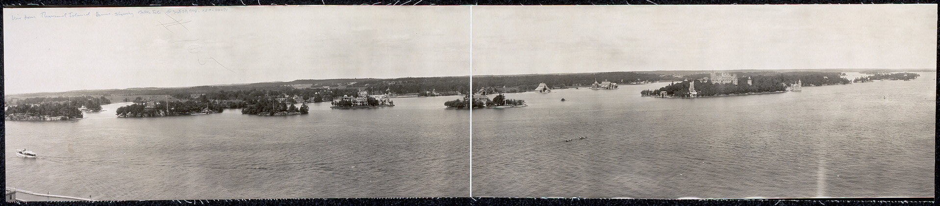 View from Thousand Island House showing Belle Isle
