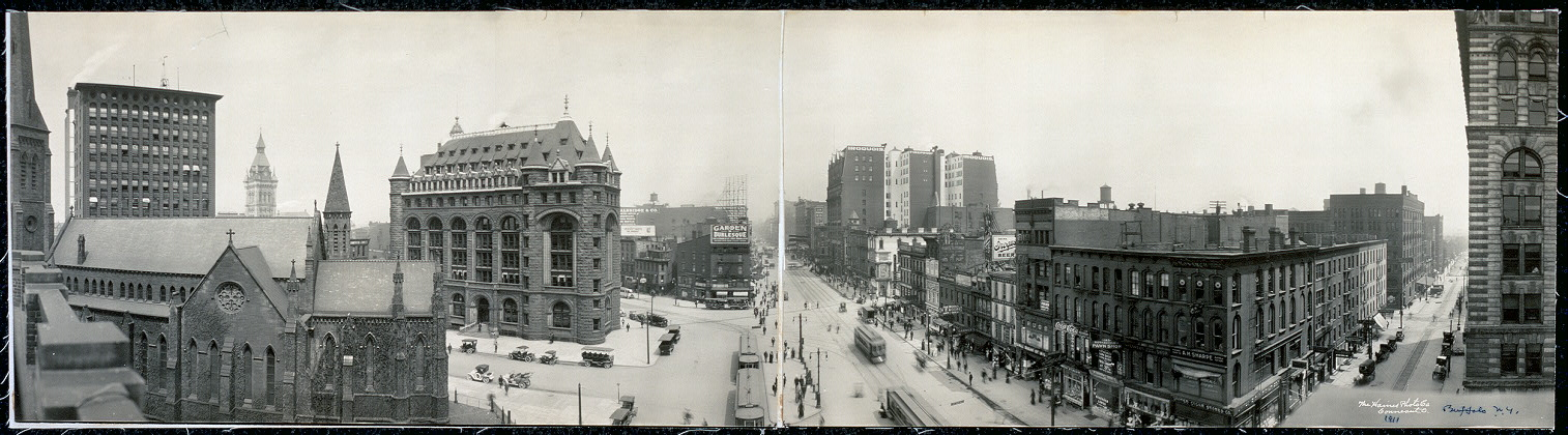 Panoramic view of Shelton Square, Buffalo, N.Y.