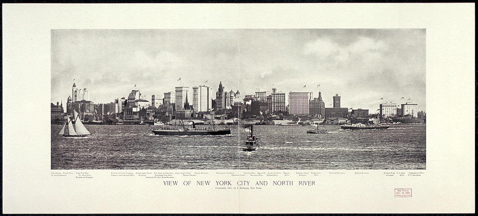 View of New York City and North River