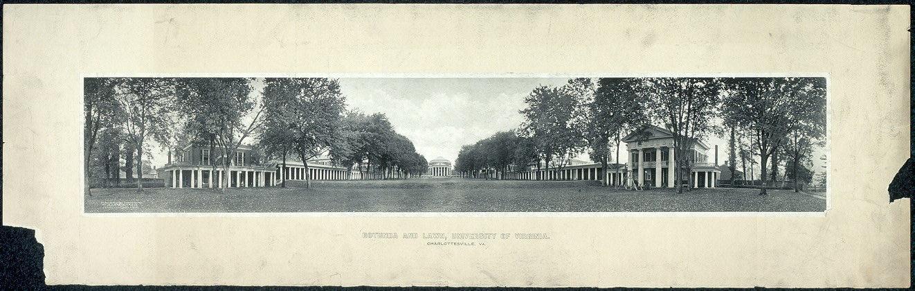 Rotunda and lawn, University of Virginia, Charlottesville, Va.