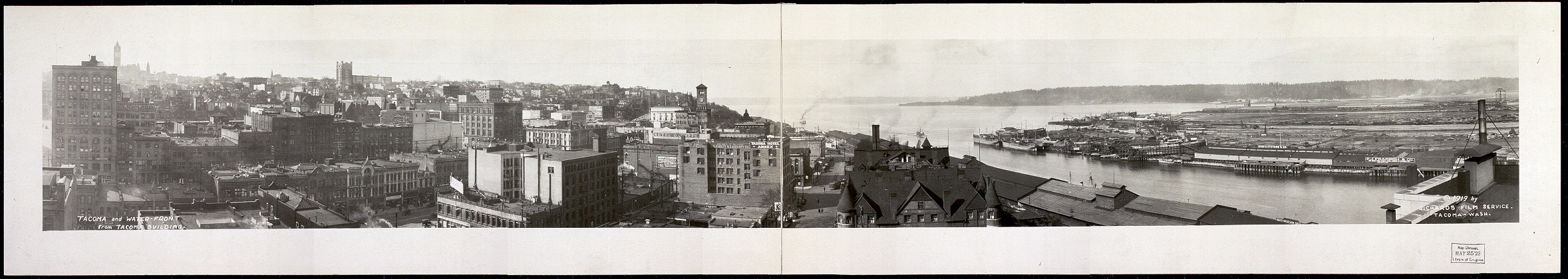 Tacoma and water-front from Tacoma Building