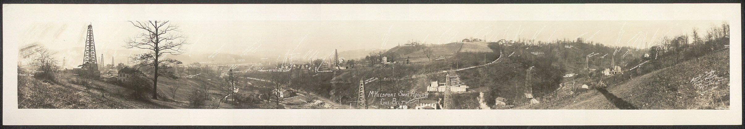 McKeesport, Snake Hollow, Gas Belt