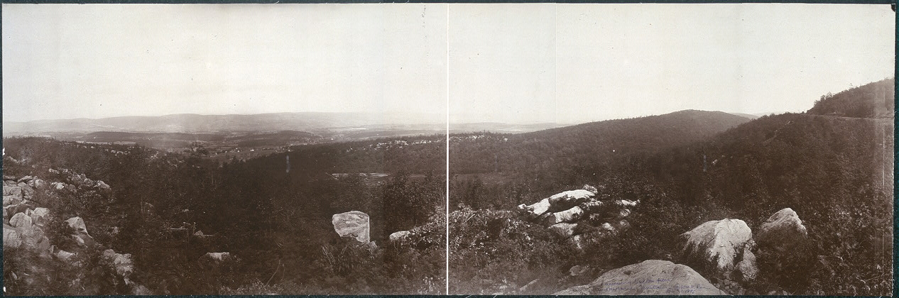Wyoming Valley from Wilkesbarre Mountains
