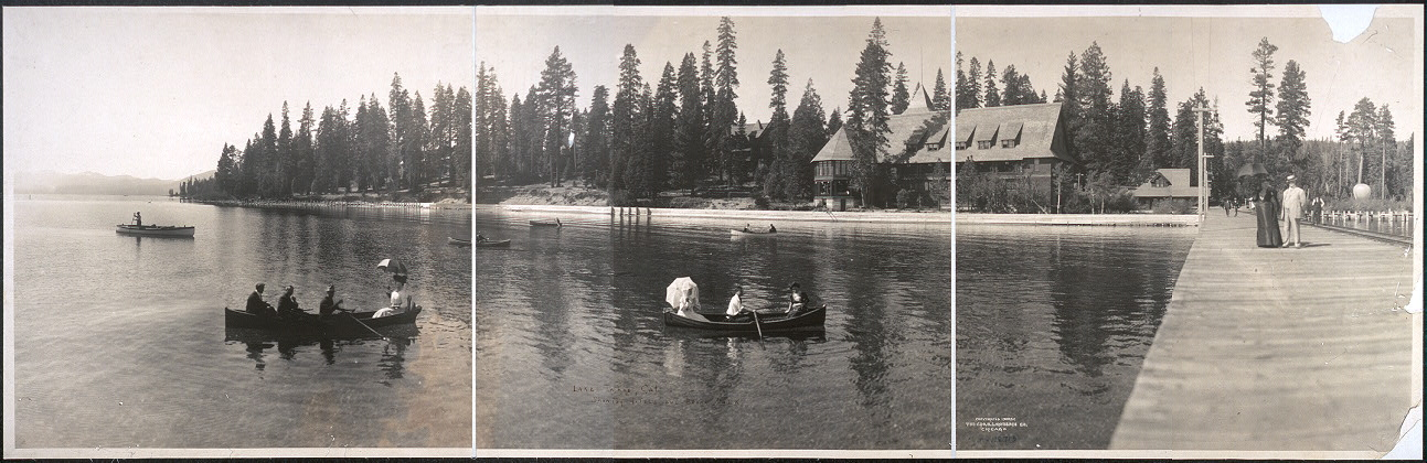 Lake Tahoe, Cal., showing hotels and broad walk