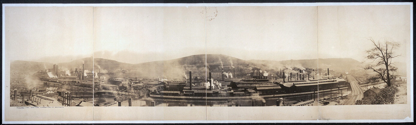 Pamoramic [sic] view, Lower works, Cambria Steel Co., Johnstown, Pa.