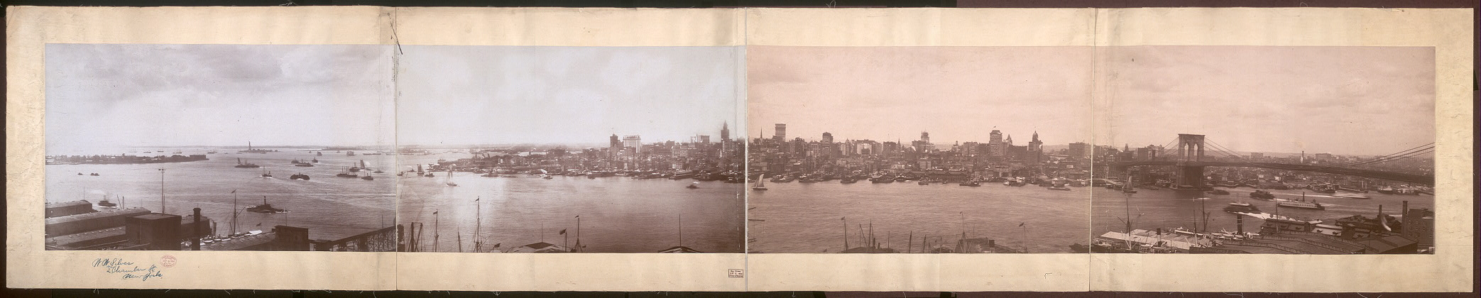 [City and harbor of New York]