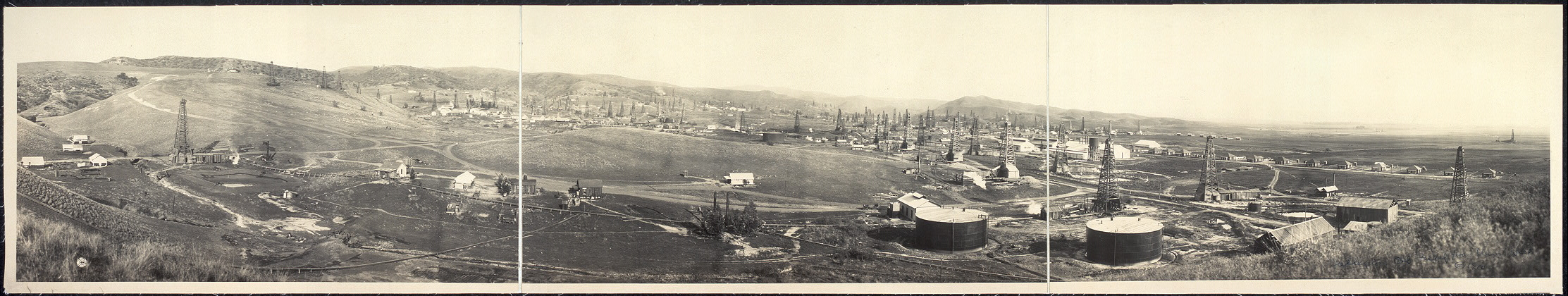 Fullerton oil field from Union Hill