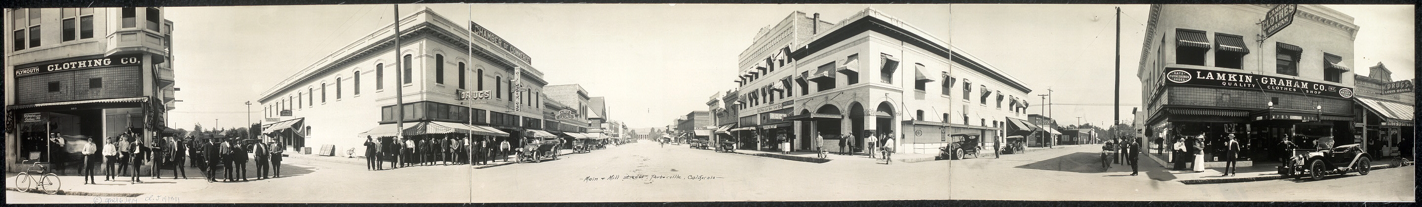 Main & Mill Streets, Porterville, California