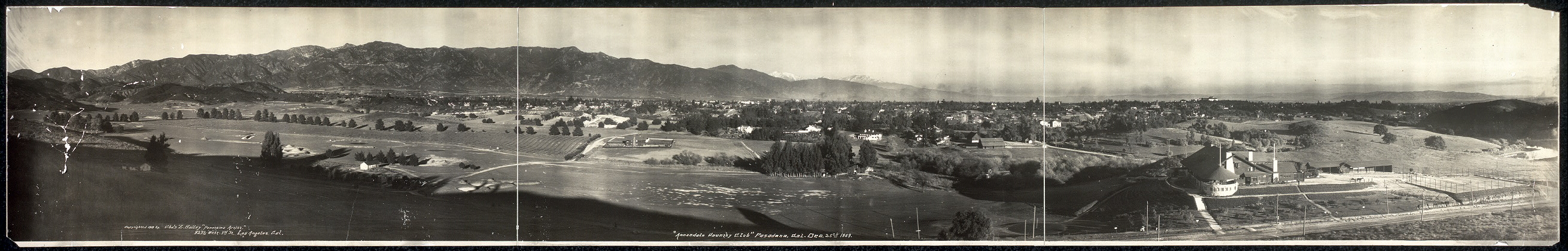 Annandale Country Club, Pasadena, Cal., Dec. 25th, 1909