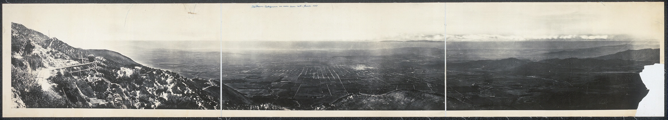 Southern California as seen from Mt. Lowe, 1907