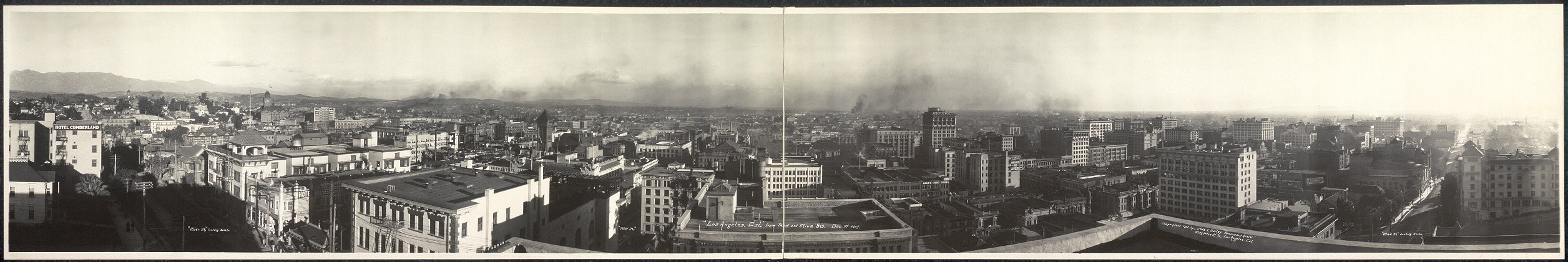 Los Angeles, Cal., from Third and Olive Sts., Dec. 3rd, 1909