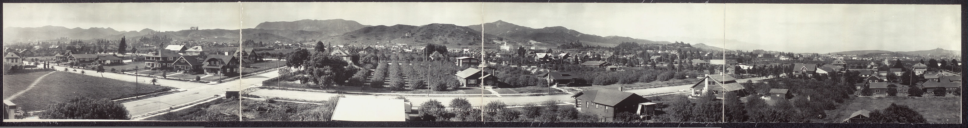 Hollywood - Los Angeles, N. from Carleton Way and Van Ness Sts.