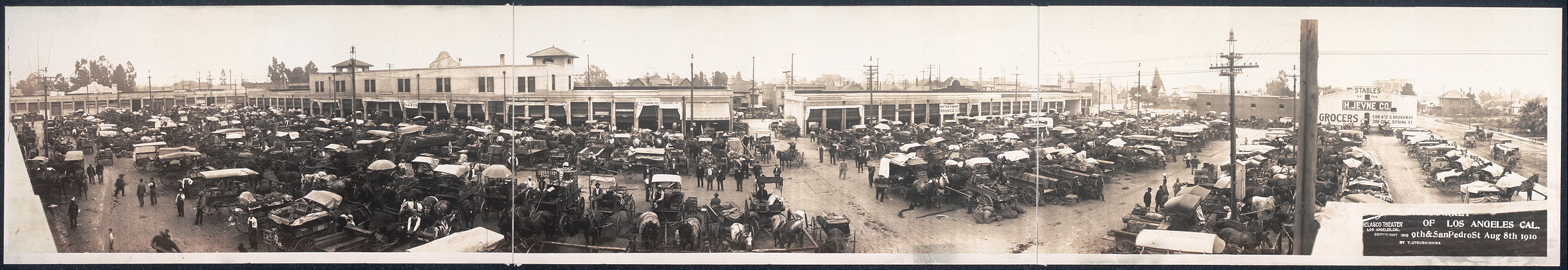 City market of Los Angeles, Cal., 9th & San Pedro St., Aug. 8th 1910