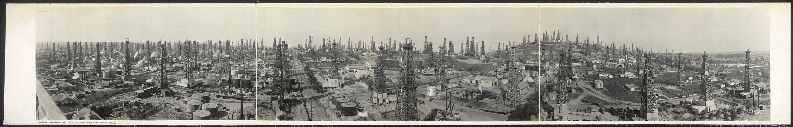 Long Beach oil field, California, May, 1923