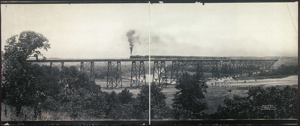[High Bridge, Chicago, Milwaukee & St. Paul Ry.]
